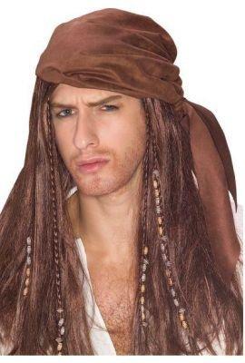 Fluch der Karibik PIRATEN-PERÜCKE (Für Halloween Depp Kostüme Johnny)