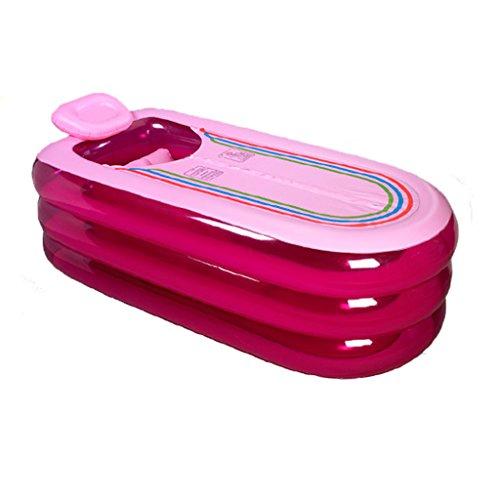 JCOCO Aufblasbare Badewanne Adult Verdickung Bad Mu Barrel Home Badewanne Folding Badewanne (Farbe : Pink) -