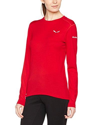 Salewa Sesvenna Wo W L/S Tee - T-Shirt für Damen, Farbe Rot, Größe 40/34 -