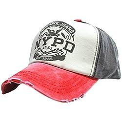 Bobury Casquillo cabido del Sombrero de Hip Hop del Camionero Gorras De Camionero Gorras Unisex del algodón de Gorras Hombre
