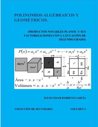 Polinomios Algebraicos y Geometricos (Productos Notables Planos y Factorizacion): Productos Notables en el Plano y sus factorizaciones con la Ecuacion grado: Volume 2 (Coleccin de Secundaria) por Juli JULIO CESAR Barreto GARCÍA