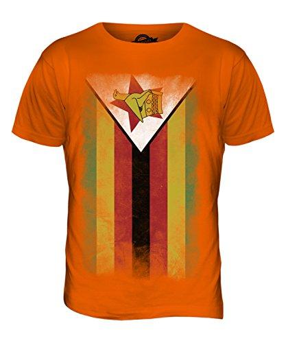 CandyMix Simbabwe Verblichen Flagge Herren T Shirt Orange
