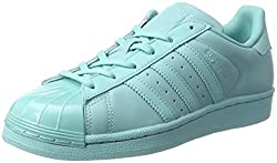 adidas Women's Superstar Glossy to Low-Top Sneakers, Turquoise (Easmin/Easmin/Cblack), 7 UK