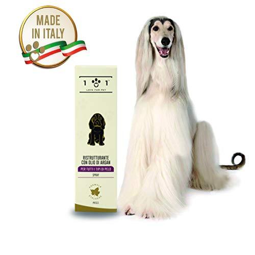 101 love for pet Ristrutturante con Olio di Argan per Tutti i Tipi di Pelo Cani e Gatti, 250 Ml