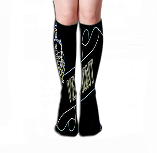 zexuandiy Hohe Socken Men's Women Dress Socks Fun Athletic Socks 19.7