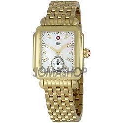 Michele Michele Deco 16 Damas Madre de Perla Dial con Diamante Reloj MWW06V000004