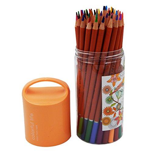OFFIDIX Lápices de colores Set Lápices de dibujo profesional para bosquejo Secret Garden Coloring Art Lápiz de dibujo Sketching Doodling Estudiante Artista Sketch Lápices 48 Color
