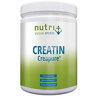 CREAPURE ® CREATIN MONOHYDRAT Pulver für mehr Kraft - 99,99% rein - höchste Dosierung - Ultrafeines Kreatin Neutral 500g - Nutri-Plus Vegan Sports - Premiumqualität aus Deutschland