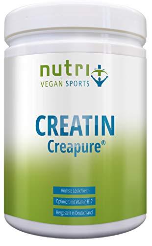 Creapure® Creatin-Monohydrat Pulver für mehr Kraft - 500g - 99,99% rein - höchste Dosierung - Ultrafeines Kreatin Neutral - Nutri-Plus Vegan Sports