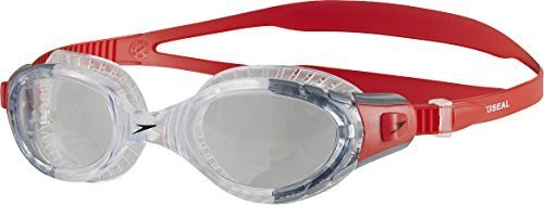 Only Sports Gear Speedo Adult Futura Biofuse Flexiseal Goggles Red/clear