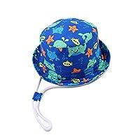 SYROSA Sun Bucket Hat for Baby Girls Boys Travel Beach 50+ UV Sun Protection Wide Brim 4-8years