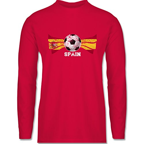 Shirtracer Fußball-WM 2018 - Russland - Spain Fußball Vintage - Herren Langarmshirt Rot