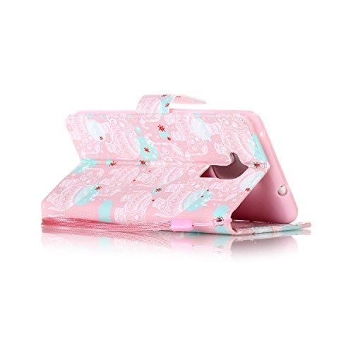 PU Silikon Schutzhülle Handyhülle Painted pc case cover hülle Handy-Fall-Haut Shell Abdeckungen für Honor 5C (+Staubstecker) (3OO) 4