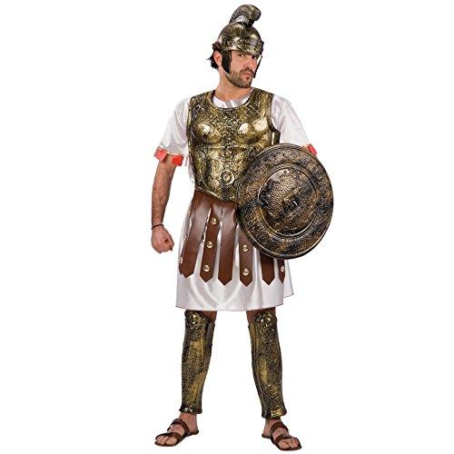 Carnival Toys 80410 - Römischer Krieger, Herrenkostüm Mit Helm, Brustpanzer und Beinprotektoren, Universal M, - Kostüm Römischer Brustpanzer