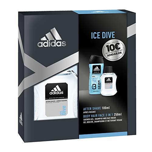 adidas Duftset Ice Dive Aftershave 100 ml + Showergel 250 ml + Voucher, 350 ml -