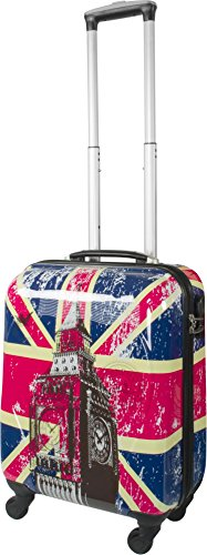 4 Rollen Hartschalenkoffer Koffer Trolley Reisetrolley Hartschale inkl. Zahlenschloss British Flag