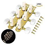 LegendTech Mecanique Guitare Tête Guitare Accordeurs Chevilles Réglage De La Machine Cheville pour Guitare Guitare Tuners Touches pour Acoustique et Électrique Guitare Basse 11.5x5x4cm