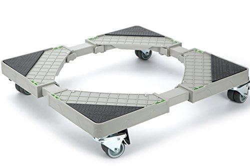 Casaya Multifunktionaler, beweglicher und höhenverstellbarer Rollwagen mit 8drehbarem Gummi Schwenkrollen für H Trockner, Waschmaschine und Kühlschrank. Test