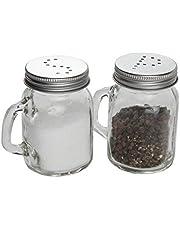 Famacart Salt & Pepper Shaker Spice Holder Dispensers Pepper Condiment 125 ML_2 Pcs