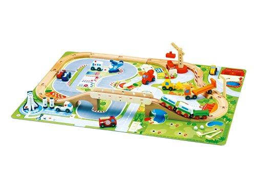 Trudi 82086 - Set Eisenbahn Autodrom -Spiele-Sets