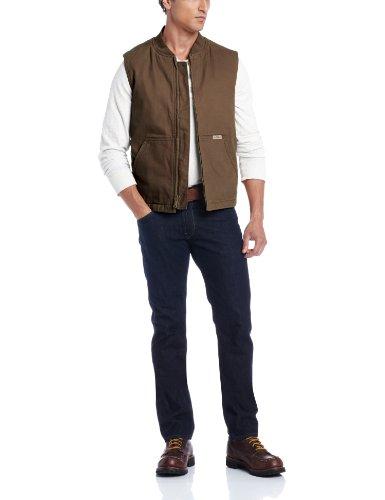 Wolverine Herren Finley Cotton Duck Insulated Vest - Braun - X-Groß Cotton Duck Vest