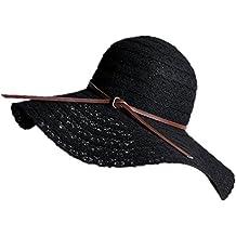 5405581a4e48d Hosaire 1x Sombreros del Sol para Mujer Sombrero de Paja Encaje Pajarita  Gorras de Visera UPF