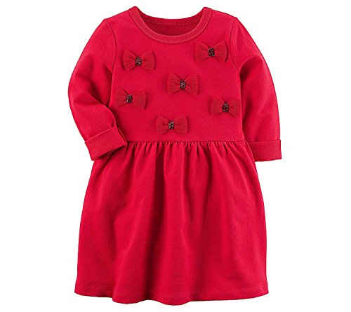 Carter's Girls' 2T-8 Bow Dress (Essential Knit Kleid)