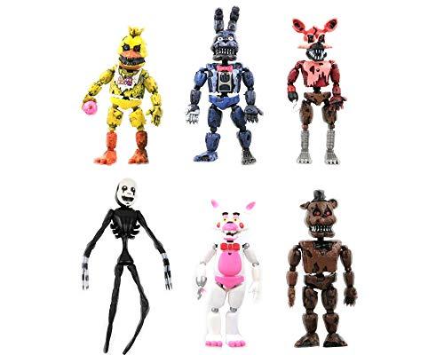 Dondonmin Anime Cartoon Five Nights at Freddy'S PVC Figura de Acción Juguetes Juego Personajes Muñecas Regalo 6 Unids / Set