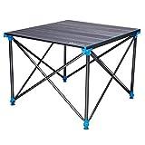 PM-TAIDU Klapptisch Draussen Camping-Tisch, Aluminiumlegierung Picknick Grill Esstisch Laptop-Tisch, Grau, 70 * 63 * 70cm (höhenverstellbar)