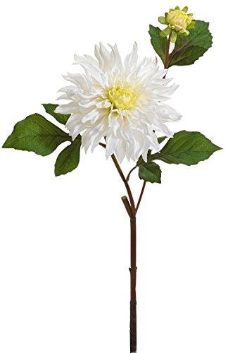 12er Pack Dahlie 58cm, weiß ,Kunstblume / Kunstpflanze