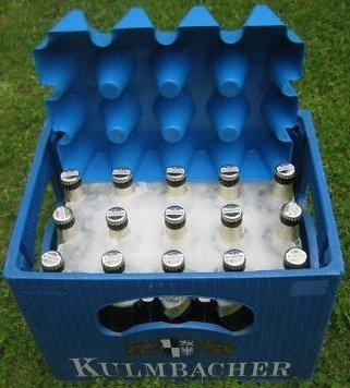Sl-Eisblock Bierkühler Getränkekühler 0,5 Liter Flaschen Bierkastenkühler Made in Germany - 0.5