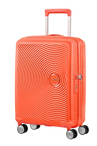 American Tourister - Soundbox Spinner Erweiterbar, 55cm, 35,5/41 L - 2,6 KG, Orange (Spicy Peach) -