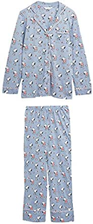 Marks & Spencer Women's 1579J E4 Snoopy Rev Pyjama Set,