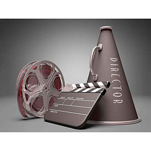 Wee Blue Coo LTD Photo Film Director Equipment Clapperboard Reel Megaphone Art Print Poster Wall Decor Kunstdruck Poster Wand-Dekor-12X16 Zoll