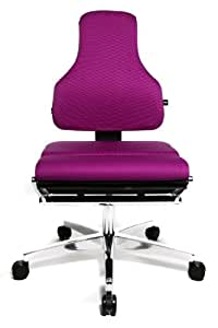 Topstar Sitness 100 Yoga Based Futuristic Fitness Swivel Chair - Purple