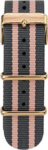 Sailor Damen Nylon Armband Dock grau-rosa BSL101-2004-20, Breite Armband:20mm (normal), Farbe Edelst