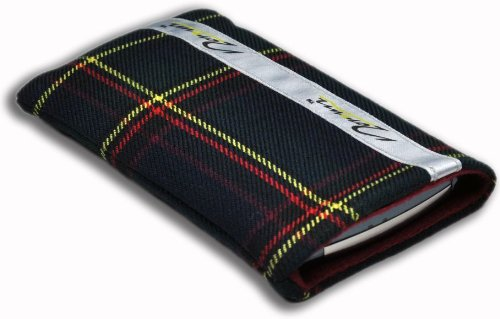 Norrun Handytasche / Handyhülle # Modell Herward # ersetzt die Handy-Tasche von Hersteller / Modell Samsung SGH-E880 # maßgeschneidert # mit einseitig eingenähtem Strahlenschutz gegen Elektro-Smog # Mikrofasereinlage # Made in Germany