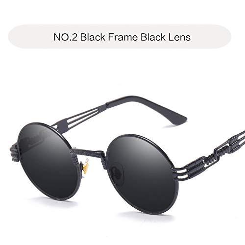 TIANKON Sonnenbrille Männer Metall Runde Brille Frauen Shades Sonnenbrille Uv400,NO 2