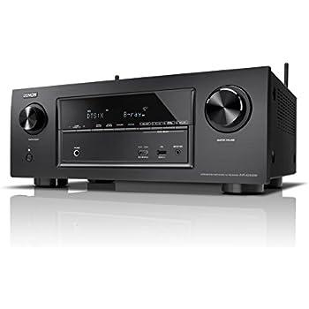 Denon AVRX2300WBKE2 7.2 Surround AV-Receiver (Dolby Atmos, dtsX, WLAN, Bluetooth, Spotify Connect, 7 Plus 1 HDMI 3D, 4K, 2 HDMI Ausgänge, HDCP 2.2, 7x 150 Watt) schwarz