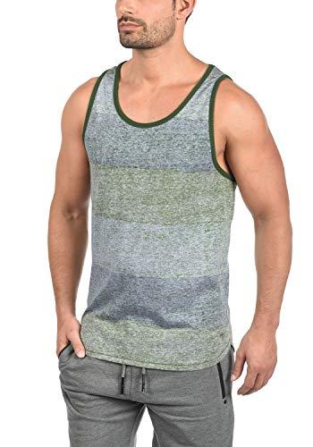 !Solid Charan Herren Tank-Top Rundhalsausschnitt aus Hochwertiger Baumwollmischung, Größe:L, Farbe:Duffel Bag Green (3590) -