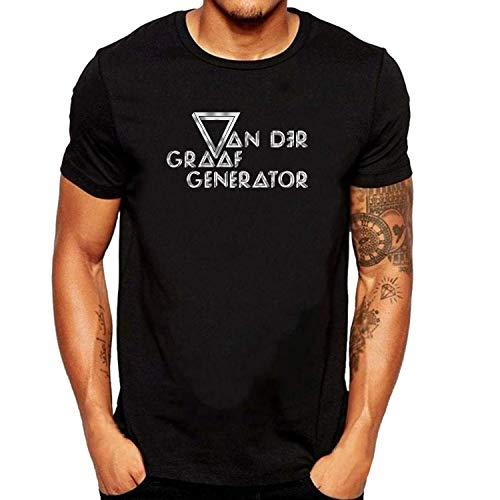 ZOMMING Tee Van Der Graaf Generator Logo Herren T Shirts Schwarz Logo Generator