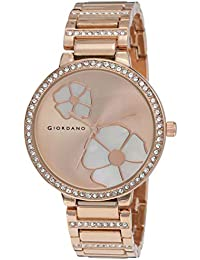 Giordano Analog Rose Gold Dial Women's Watch-C2165-33