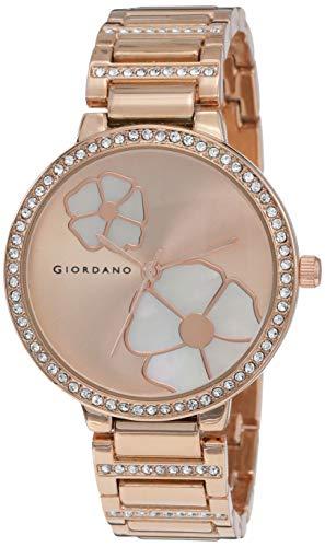 Giordano Analog Rose Gold Dial Women's Watch-C2165-33