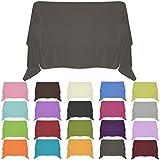 Nurtextil24 Sofaüberwurf in 30 Farben und 4 Größen Überwurf aus 100% Baumwolle Anthrazit 150 x 240 cm