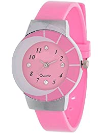 Generic True Colors New Designer Half Moon Analoge Watch Analog Watch - For Girls