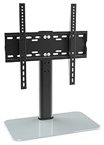 ricoo meuble tv design fs304w support pied en verre support meuble tele pied support pour tv led. Black Bedroom Furniture Sets. Home Design Ideas