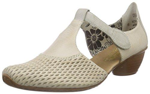 Rieker 43736 Women Closed-Toe, Chaussures à talons - Avant du pieds couvert femme Gris (Cloud/ice / 40)