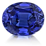 #4: Vaibhav Gems Blue Sapphire Stone Cultured Certified Neelam Gemstone 9.25 Ratti