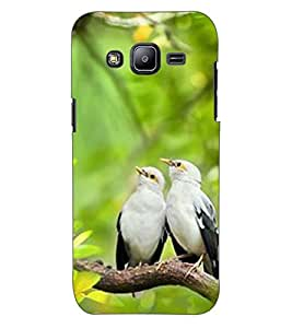 ColourCraft Love Birds Design Back Case Cover for SAMSUNG GALAXY J2 J200G