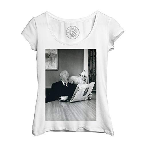 Frauen T-Shirt Foto von Star berühmten Regisseur Alfred Hitchcock Film Original 8